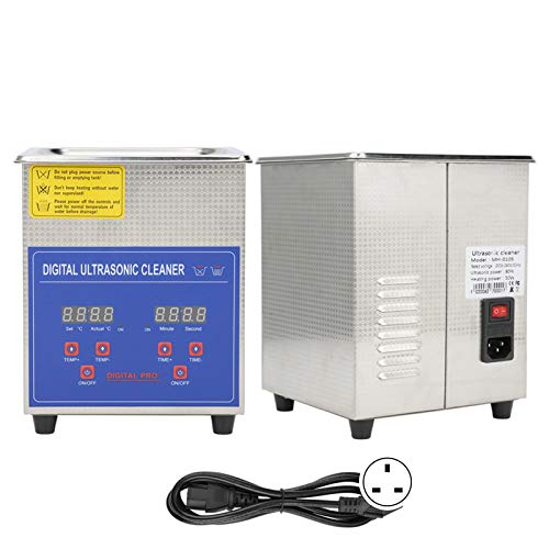 2L Digital Ultrasonic Sonic Cleaner, UK Plug 220V Sonic Cleaner LED Display...