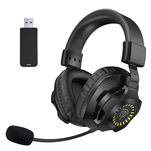 REDSTORM Casque Gamer PS4 sans Fil, Son Surround Stéréo, Jack Microphone Anti-Bruit Amovible, Casque Gaming Compatible avec PS5/Switch/Xbox One/PS4/PC/Smartphone