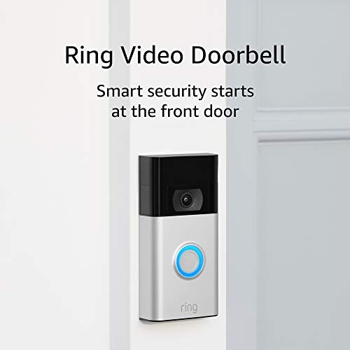 Ring Video Doorbell – newest generation, 2020 release – 1080p HD video, improved motion detection, easy installation – Satin Nickel