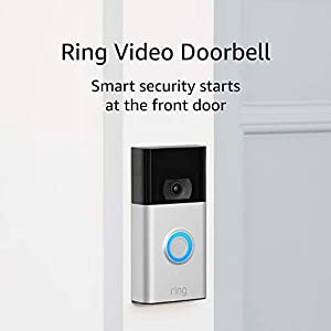 Ring Video Doorbell – 1080p HD video, improved motion detection, easy installation – Satin Nickel (2020 release)
