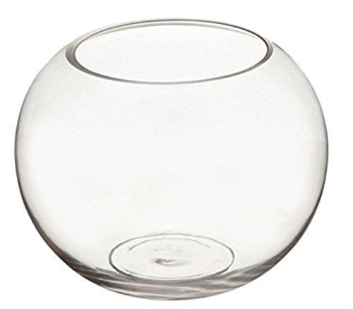 ガラス 容器 テーブル ボウル 金魚鉢 大 おしゃれ インテリア オブジェ アクアリウム テラリウム 花瓶 (23cm)