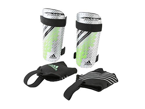 adidas Youth Schienbeinschoner Predator Replique DS Shin Guards, Silver, Green. Black METSILVER