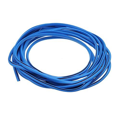 Tuokay 10M Protection Portiere Voiture Protection en Caoutchouc de Port de Voiture (Bleu)