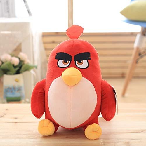 CushionsHome Spiel Angry Birds Plüschtier Red Chuck Bomb Niedliche Kissenpuppe Gefüllte Anime-Puppe Für Kinder Geburtstagsgeschenk 4 Styles 17cm rot
