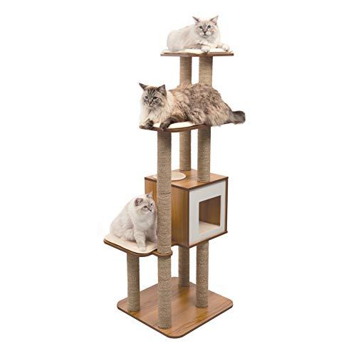VESPER High Base Extra Large Cat Tree, Cat Furniture, 52060, Walnut