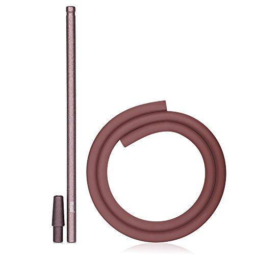 MYA Shisha Schlauch Set Stick Bronze komplett Set Silikonschlauch Soft Touch