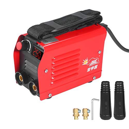 Soldadora de arco de 250 amperios, inversor digital IGBT Stick 220V, Mini soldadora eléctrica portátil con pantalla LED, conector rápido para principiantes
