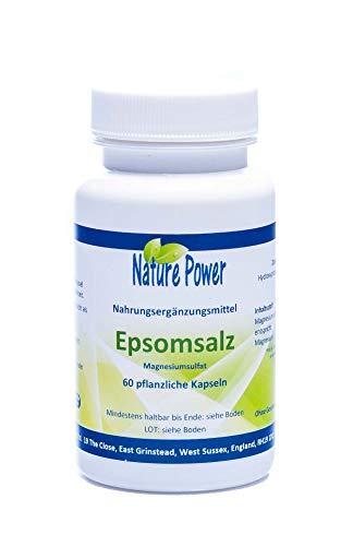 Epsomsalz (Magnesiumsulfat), 60 Kapseln = 60g