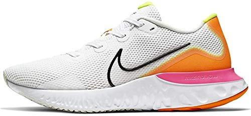 Nike Renew Run, Zapatillas para Correr Hombre, Blanco/Negro/Platino Tinte/Rosa Explosión, 42 EU
