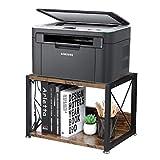 OROPY Vintage-Druckerständer, 2-Etage-Schreibtisch-Organizer für Faxgeräte, Bücher, Scanner, Büromaterial, Speicher Organizer für Büro Zuhause-44x30x30 cm