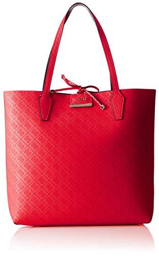 Guess - Bobbi, Bolsos totes Mujer, Rojo (Red/Red/Rrd), 42.5x35x12.5 cm (W x H L)