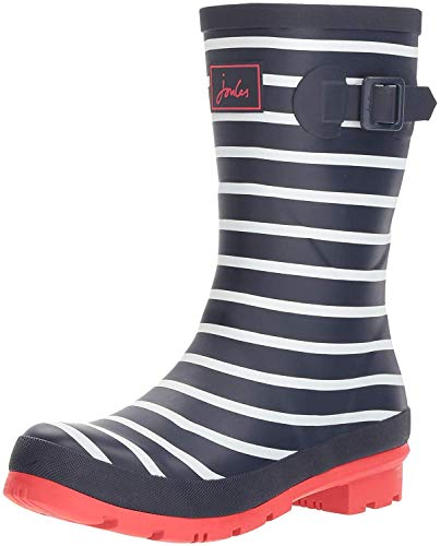 Joules Damen Molly Welly Gummistiefel, Blau (French Navy Stripes Fnavstp), EU 42