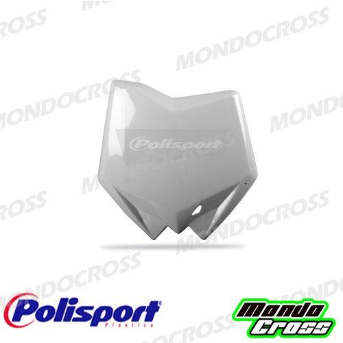MONDOCROSS Tabella portanumero anteriore POLISPORT Bianco Colore OEM 2009/2011 HUSQVARNA 125 CR 06-11 250 TC 06-11 450 TC 06-10 510 TC 06-10