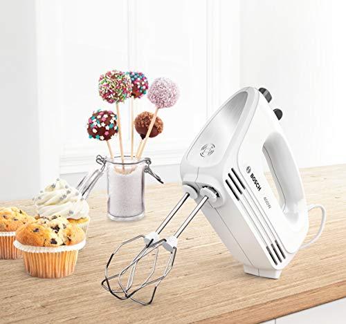 Bosch CleverMixx MFQ24200GB Hand Mixer, Plastic, 400 W - White/Stainless Steel (Kitchen & Home)