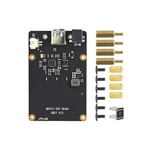 Tamkyo für Raspberry Pi 4B X857 V1.2 MSATA SSD Erweiterungs Platinen Speicher Modul USB 3.1 für Raspberry Pi 4B