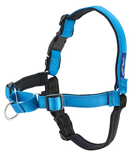 PetSafe Easy Walk Deluxe Dog Harness, No Pull Dog Harness – Perfect for Leash & Harness Training – Stops Pets from Pulling and Choking on Walks – Medium, Ocean Blue