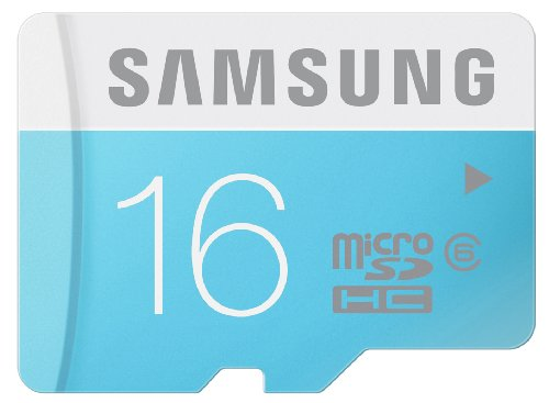 Samsung MB-MS16D/EU Scheda Micro SD HC Standard, Classe 6, 16GB, Bianco/Azzurro