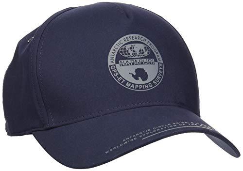 Napapijri Herren Fitch Baskenmütze, Blau (Blu Marine 176), One Size (Herstellergröße: D)