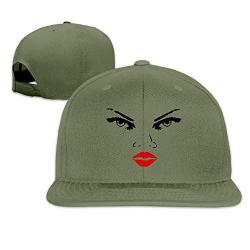 FGHJKL Zeimusu-Woman-Eyes-Nose-Lips Printing Youth Sport Hip-Hop KoreaFashion Adjustable Baseball Cap