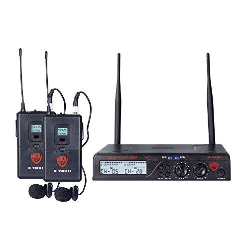 Nady U-2100 Dual LT 200-Channel UHF Wireless Lavalier Microphone System