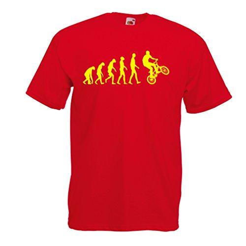 lepni.me Heren T-Shirt Menselijke Evolutie en Fiets - Fietsen – Fietsaccessoires, Fietskleding