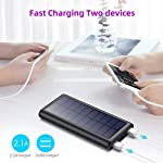 Solar Power Bank 26800mAh, HETP 【2020 Newest Solar Portable Charger】 Portable Charger External Backup Battery Pack with… 5