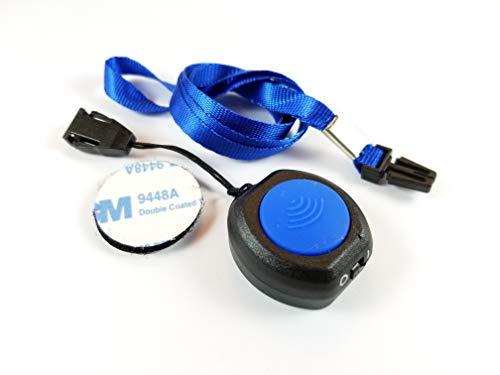 nextav inalámbrico Bluetooth PTT botón para Zello Walkie Talkie App para Teléfono (Android ble) y iOS iPhone con llavero (nxptt-u1b-l0)