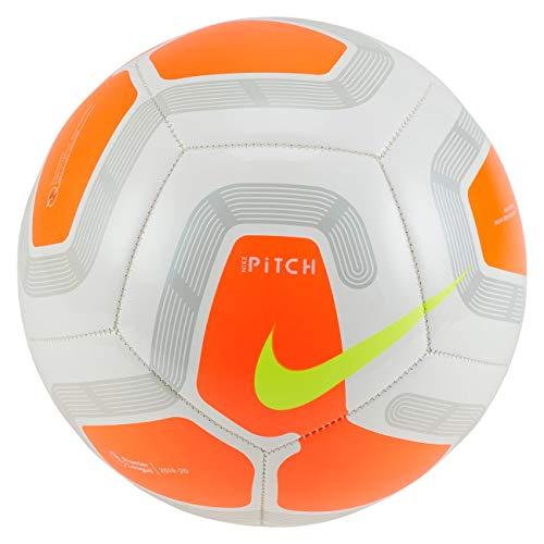 Nike Pallone Pitch Premier League 2019-2020, Bianco/Arancione, Taglia 5