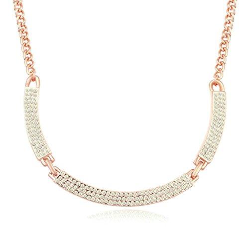 Daesar Schmuck Damenkette Vergoldet Lächeln Halsketten Zirkonia Anhänger Halskette für Frauen