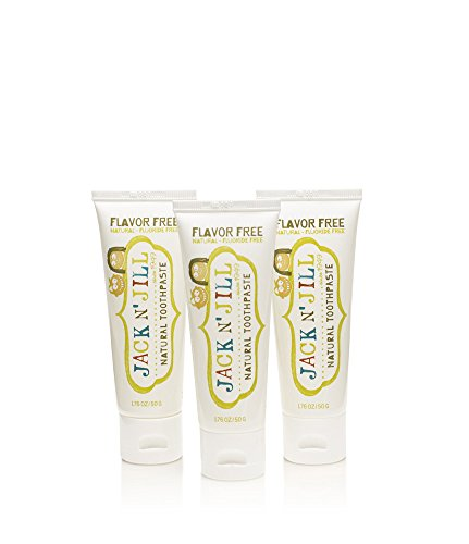 Jack N' Jill Natural Toothpaste, Flavor Free, Vegan, SLS Free, Fluoride Free 3-Pack