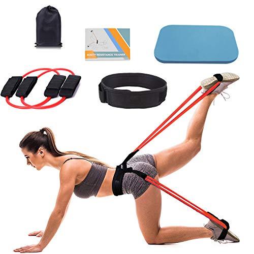 Booty Resistance Belt Bands, Resistance Belt, Resistance Bands Waist Belt for Legs and Butt, Ankle Resistance Belt, Leg Workout Equipment, Vertical Jump Trainer