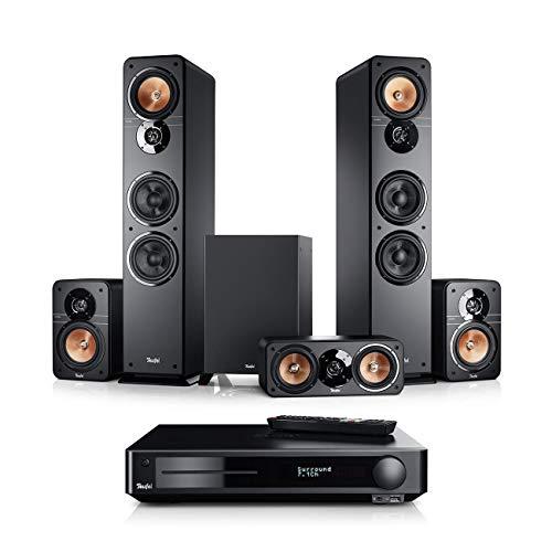 Teufel Ultima 40 Surround Impaq 5.1-Set Schwarz Heimkino Lautsprecher 5.1 Soundanlage Kino Raumklang Surround Subwoofer Movie High-End HiFi Speaker