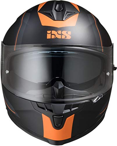 IXS 1100 2.0 Helm Schwarz Matt/Orange M (57/58)