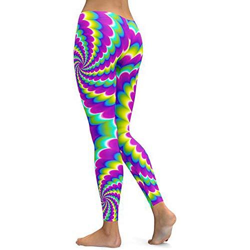 Asalinao Frauen Sommer elastische Taille Boho Check Hosen Baggy weites Bein Plus Size Yoga Capris