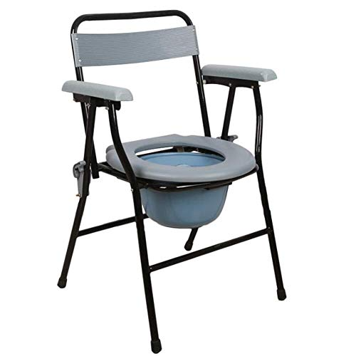 Bathroom Wheelchairs RRH Bedside Commodes Folding Lightweight Commode Chair Liners, Folding Bathroom Support with Removable Potty