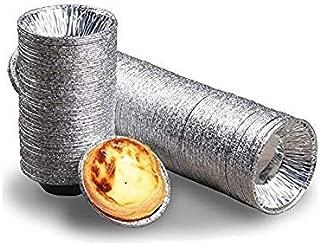 Onwon 250PCS Disposable Baking Tinfoil Cupcake Circular Egg Tart Mold Cups