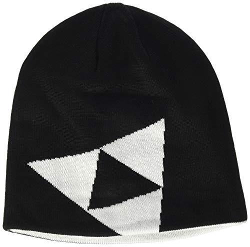 Fischer Sports Logo-Reversible Bonnet Mixte, Noir, Taille Unique