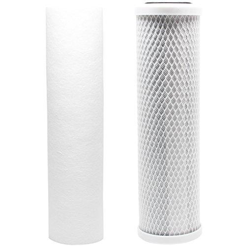 Kit de filtre de rechange pour PETS-N-US Seachem Pinnacle Ro Osmose Inverse Système – Inclut Filtre Bloc de carbone et filtre sédiments PP – Denali Pure marque