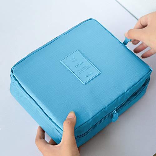 NZQLXSN Multifunktions-Waterproof Oxford Tuch Aufbewahrungstasche Hand Mann Frau Reise Kulturtasche Kosmetiktasche (Color : E, Size : 22cm*18cm*8cm)
