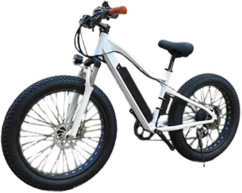 RDJM Bici electrica, Bicicleta eléctrica Amplia Fat Tire Velocidad Variable batería de Litio de Motos de Nieve montaña de Deportes al Aire Libre de aleación de Aluminio de Coches