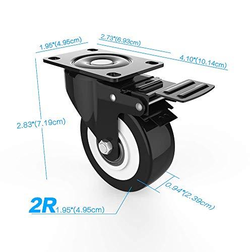 412yofKkgxL. SL500  - DOUYAO Ruedas para muebles,ruedas muebles,ruedas para palets,4 ruedas giratorias con función de frenado, ruedas de goma para muebles