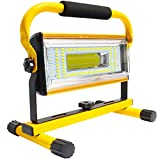 AF-WAN Foco Portátil LED Recargable, 100W Foco luz de trabajo 7000 lumenes Foco Portatil Led Recargable, 6 Modos, Focos Bateria Recargable con Rotación de 360 °(Amarillo)