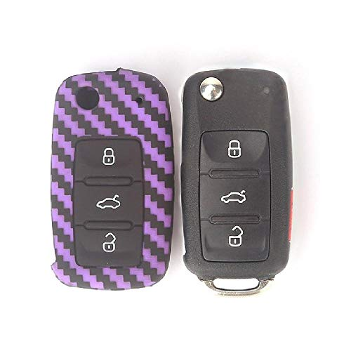 FBFGCar Styling Key Case Protector de Silicona Car Key Cover Shell para VW Polo Golf Bora Passat Skoda Octavia A5 Fabia Seat Ibiza Leon