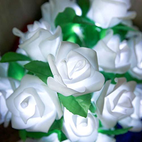 Rose Fairy Lights, Battery-powered Wedding Holiday Family Birthday Party, Garland Decoration, String Lights YANGERYANG