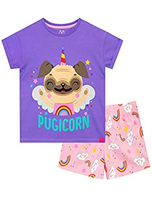 Harry Bear Pijamas para niñas Pug Unicornio Multicolor 12-13 Años