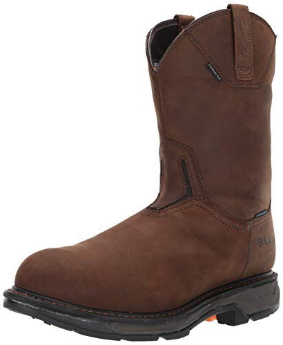 Ariat Work Men's Workhog XT H2O Carbon Toe Western Boot, Oily Distressed Brown,  9 D US