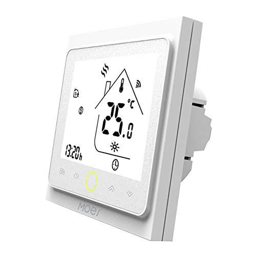 DragonPad WiFi Programmierbarer Gaskessel Thermostat LCD-Display Temperaturregler weiß