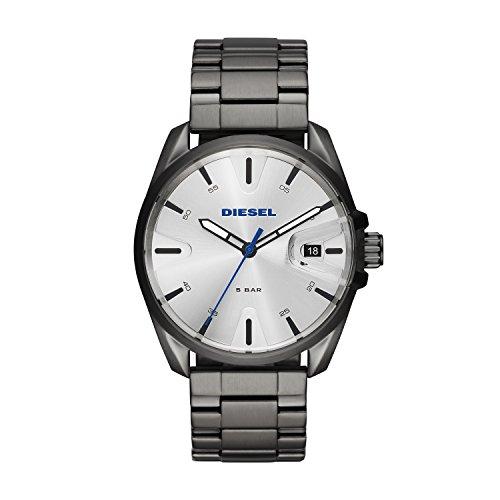 Diesel Herren Analog Quarz Uhr mit Edelstahl Armband DZ1864