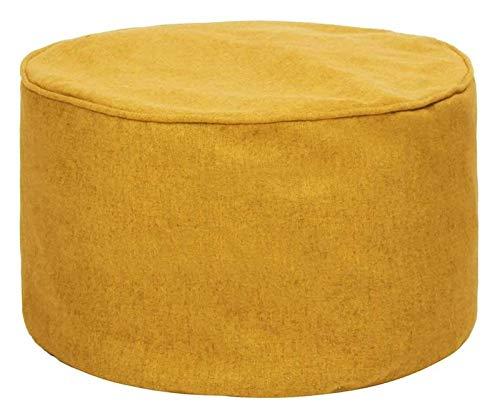 yxx Sitzsack Leinen Fußhocker Cover Home Sofa Runde Hocker Bohnenbeutel Sofa Liege Abdeckung Weichwaschbar ohne Füllstoff for Wohnzimmertisch, 17.7x9.8in, 45x25 cm, Sonnenlichtblau (Color : Yellow)