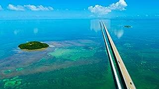 Key West, Florida - Pigeon Key and 7 Mile Bridge - Photography A-93350 (9x12 Art Print, Wall Decor Travel Poster)